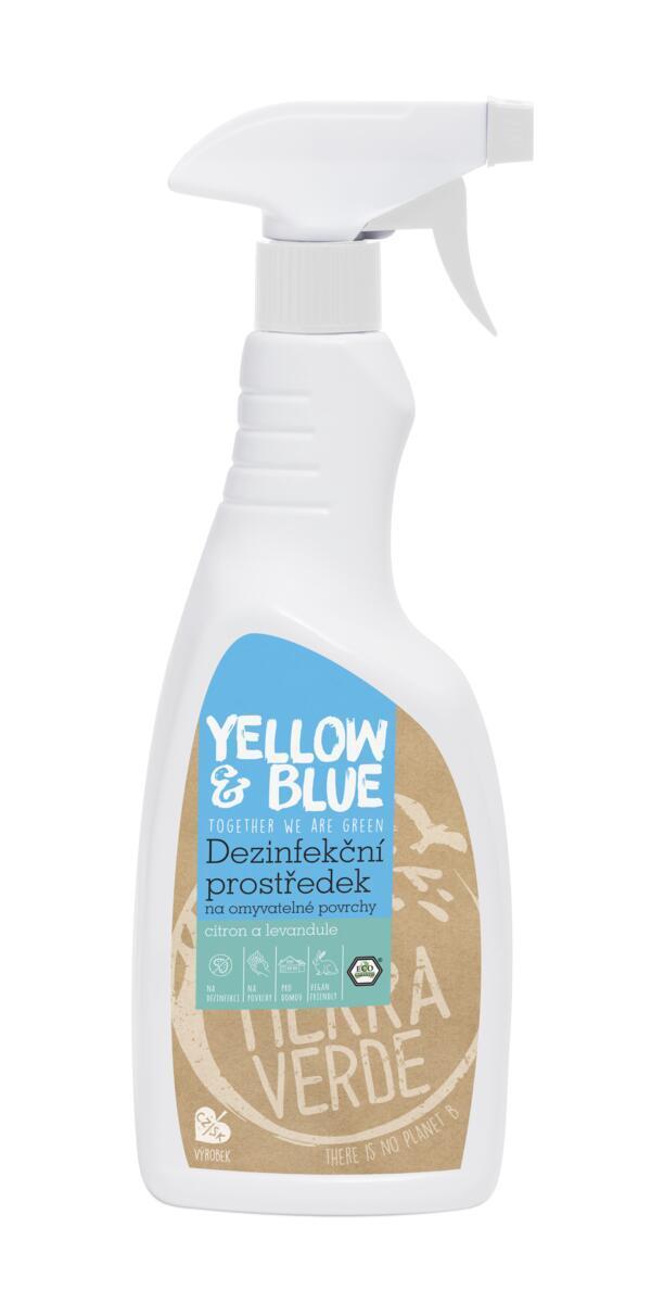 Použití produktu Dezinfekční prostředek na omyvatelné povrchy citron a levandule (rozprašovač 750 ml)