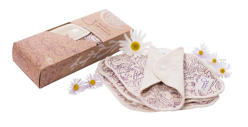 Použití produktu Gaia pads – slipové vložky – fialová (4 ks)