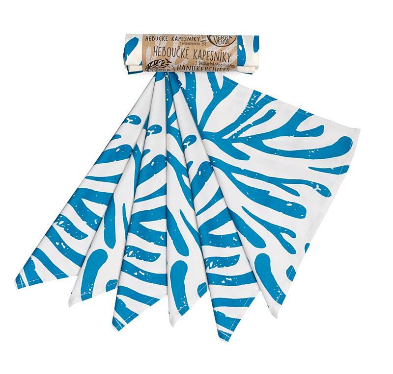 Použití produktu Kapesníky pánské – modré větve (36×36 cm) 6 ks