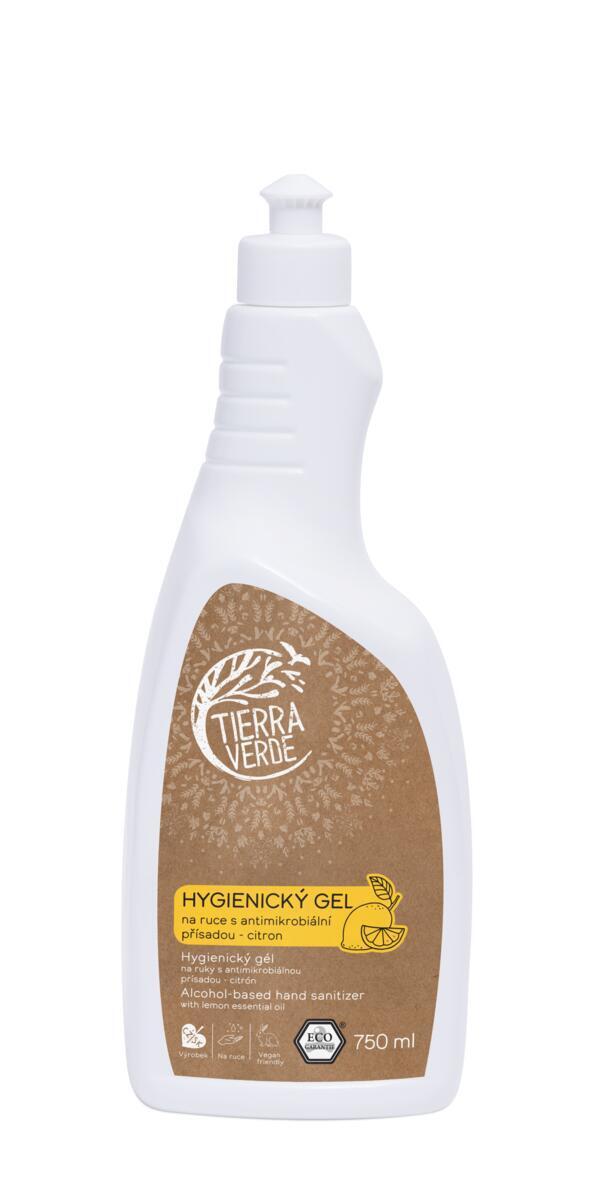 Použití produktu Hygienický gel na ruce citron (lahev 750 ml)
