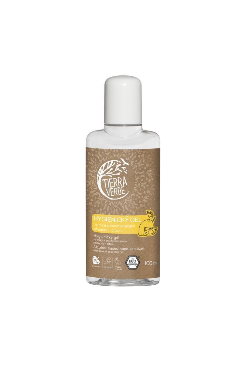 Použití produktu Hygienický gel na ruce citron